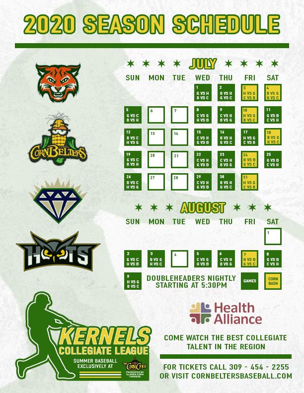 KCL 2020 Schedule